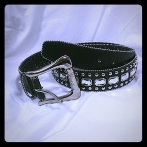 Guess jeweled and studded belt large